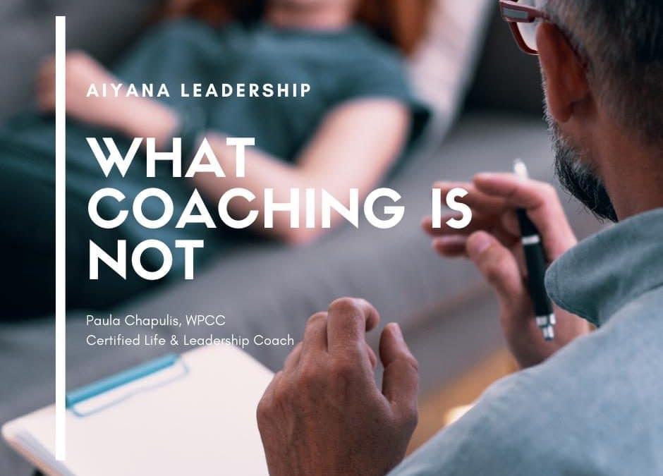 What Coaching Is NOT image
